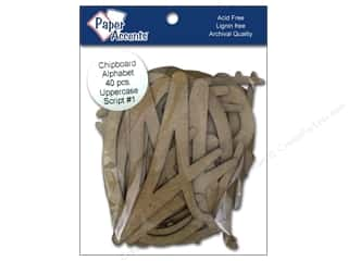 "J. W. Etc: Paper Accents ChipShape Alpha4"" Script#1 Upper40pc"