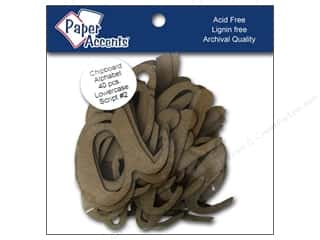 """chipboard""  4x4: Paper Accents ChipShape Alpha4"" Script#2 Lower40pc"