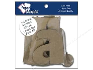 "Paper Accents ChipShape Alpha4"" Block#2 Lower40pc"