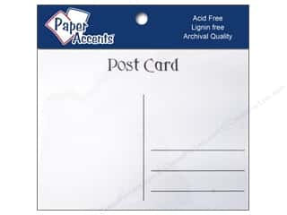 New: Paper Accents Post Cards 4.25x5.5 25pc White (3 pieces)