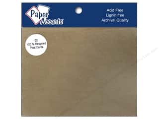 New: Paper Accents PostCards 4.25x5.5 Blank 50pc BrnBag