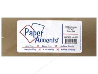 New: Paper Accents Bookmark 2.5x6 100pc Brown Bag
