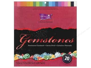 "Scrapbooking Solid Cardstock: Coredinations Cardstock Pack 12""x 12"" Gemstones Assorted 20pc"