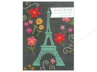 Back To School Vacations: Molly & Rex Note Sticky Padfolio Eiffel Doodies