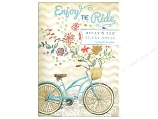 Molly & Rex Note Sticky Padfolio Bike Ride Bouquet
