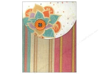 Pads Flowers: Molly & Rex Note Button Pocket Pad Orange Flower Stripe (2 pieces)