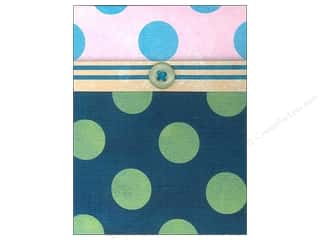 Molly & Rex Note Button Pocket Pad Green PolkaDots (2 piece)