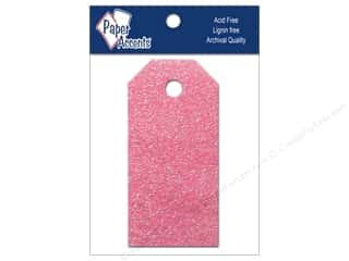 petaled sale: Craft Tags by Paper Accents 7/8 x 1 3/4 in. 10 pc. Glitz Petal Pink