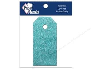 Craft Tags 7/8 x 1 3/4 in. 10pc Glitz Blue Sky