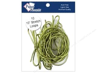 "Paper Accent Stretch Loops 10"" Metallic Gold 10pc"