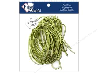 "Paper Accent Stretch Loops 14"" Metallic Gold 10pc"