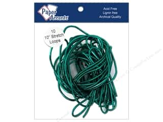 "Gift Wrap & Tags: Paper Accent Stretch Loops 10"" Metallic Green 10pc"