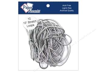 "Paper Accent Stretch Loops 10"" Metallic Slvr 10pc"