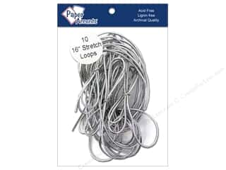 "Gift Wrap & Tags: Paper Accent Stretch Loops 16"" Metallic Slvr 10pc"