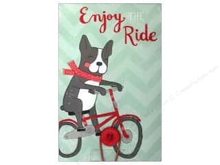 Note Cards Back to School: Molly & Rex Note Button Large Pad Puppy Enjoy The Ride