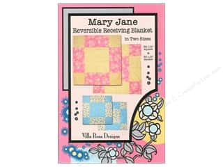 Sweet Jane Quilting Designs: Villa Rosa Designs Mary Jane Reversible Receiving Blanket Pattern