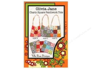 Brookshier Design Studio Charm Pack Patterns: Villa Rosa Designs Olivia Jane Charm Square Patchwork Tote Pattern