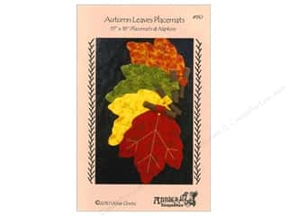 Fall / Thanksgiving $18 - $63: Annie's Keepsakes Autumn Leaves Placemats Pattern