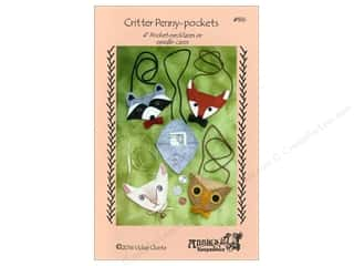 Wool Felt & Felting Patterns: Critter Penny Pockets Pattern