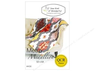 Fat Quarter / Jelly Roll / Charm / Cake Patterns: Sew Kind Of Wonderful Metro Medallion Pattern