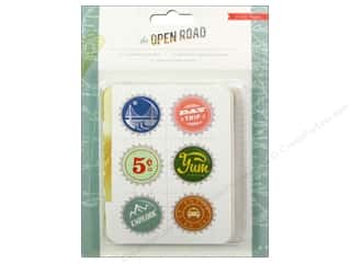 Crate Paper Designer Papers & Cardstock: Crate Paper Embellishments Open Road Journaling Cards