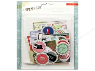 Crate Paper  Embel Open Road Ephemera Pack