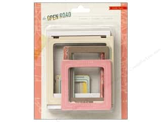 Crate Paper  Embel Open Road Frames Chipboard