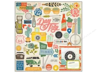Crate Paper: Crate Paper Stickers Crate Paper Open Road Adhesive Chipboard