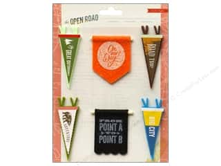 Crate Paper Dimensional Stickers: Crate Paper Stickers Crate Paper Open Road Pennants