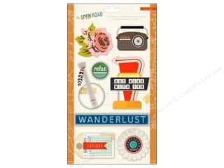 Crate Paper Dimensional Stickers: Crate Paper Stickers Crate Paper Open Road Standouts