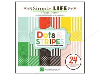 Echo Park Paper Pad 6 x 6 in. Simple Life Dots Stripes
