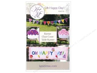 Home Decor Birthdays: Kenzie Mac & Co Oh Happy Day! Banner & Table Runner Pattern