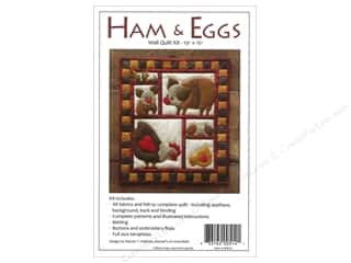 Felting 13 in: Rachel's Of Greenfield Kit Felt Ham & Eggs Wall Quilt