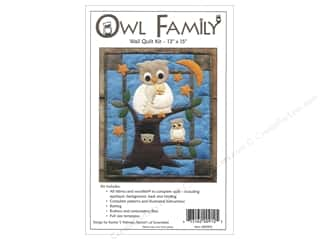 Felting 13 in: Rachel's Of Greenfield Kit Felt Owl Family Wall Quilt