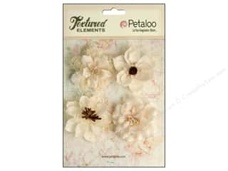 Petaloo Textured Elements Burlap Blossoms Ivory