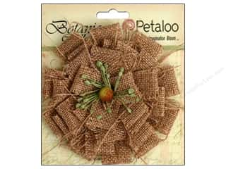 Mother Nature's Flowers / Blossoms: Petaloo Botanica Collection Burlap Blossom Large Natural