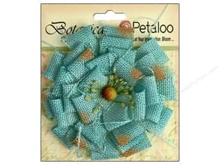 Flowers / Blossoms Blue: Petaloo Botanica Collection Burlap Blossom Large Teal