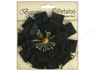 Floral Arranging Scrapbooking & Paper Crafts: Petaloo Botanica Collection Burlap Blossom Large Black