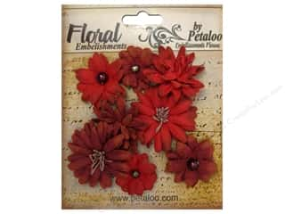 Flowers / Blossoms Floral Arranging: Petaloo Darjeeling Mini Mix Teastain Red