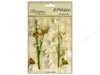 Flowers / Blossoms Kids Crafts: Petaloo Botanica Collection Floral Ephemera White
