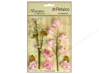 Flowers / Blossoms $5 - $6: Petaloo Botanica Collection Floral Ephemera Soft Pink