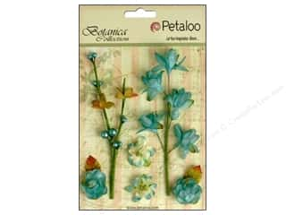 Flowers / Blossoms Blue: Petaloo Botanica Collection Floral Ephemera Teal