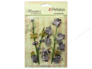 Grey: Petaloo Botanica Collection Floral Ephemera Charcoal Grey