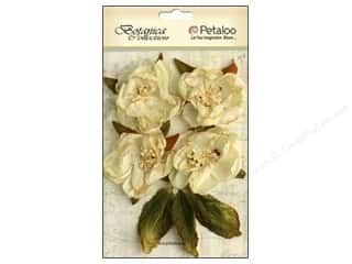 Bazzill Embellishment Flowers / Blossoms / Leaves: Petaloo Botanica Collection Blooms Ivory