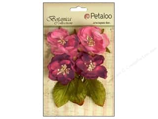 Craft Embellishments Think Pink: Petaloo Botanica Collection Blooms Fuchsia