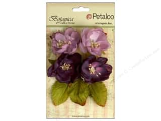 Bazzill Embellishment Flowers / Blossoms / Leaves: Petaloo Botanica Collection Blooms Lavender/Purple