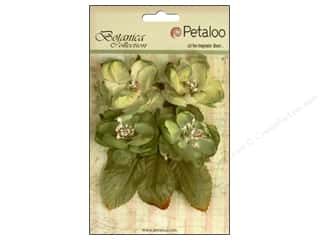Scrapbooking Flowers: Petaloo Botanica Collection Blooms Pistachio
