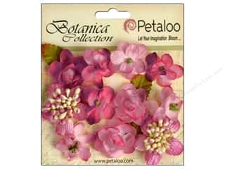 Craft Embellishments Think Pink: Petaloo Botanica Collection Minis Fuchsia