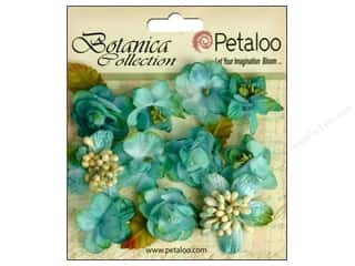 Floral Arranging Scrapbooking & Paper Crafts: Petaloo Botanica Collection Minis Teal