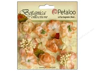 Craft Embellishments Think Pink: Petaloo Botanica Collection Minis Peach